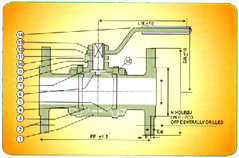 Three Pes Design Flanged End